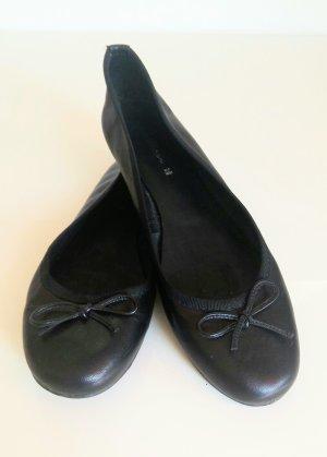 schwarze Ballerinas aus echtem Leder