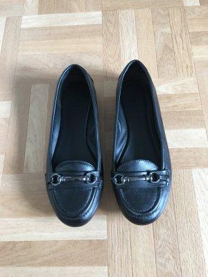 Deichmann Peep Toe Ballerinas black