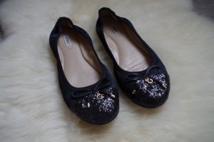 Guess Bailarinas negro-color oro