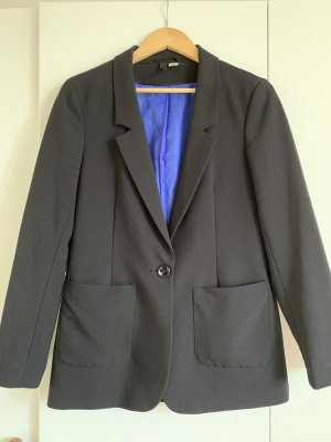 H&M Tuxedo Blazer black-blue