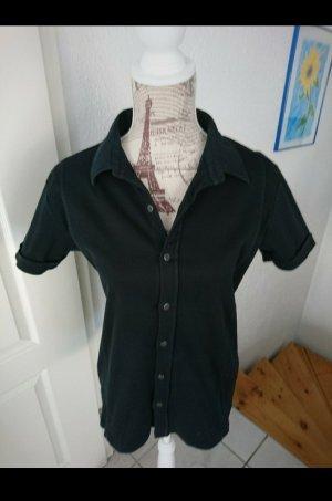 Schwarze Basic Bluse