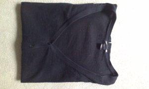 schwarze Basic-Strickjacke