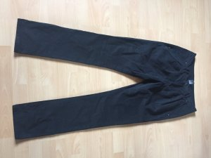 Schwarze Baumwolle Chino Größe 38