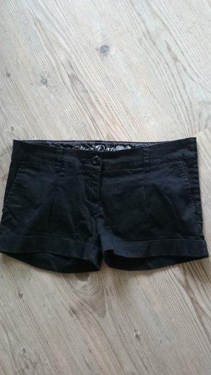 Schwarze Baumwollshorts. Größe M