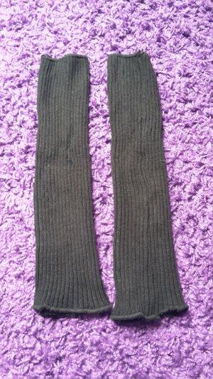 Legwarmers black cotton
