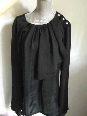 Schwarze Benetton Bluse