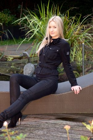 Schwarze Beschichtete Hose H&M