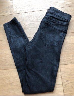 Schwarze beschichtete Hose von Abercrombie