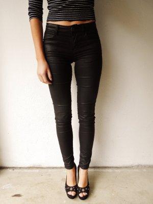 Schwarze Beschichtete Skinny Jeans von Guess