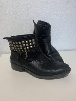 Lavorazione Artigiana Ankle Boots black leather