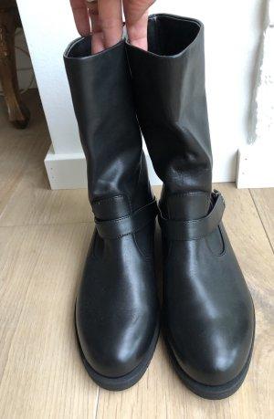 Jil Sander Buskins black leather