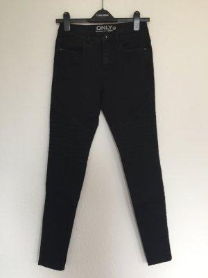 Schwarze Biker-Jeans von ONLY in Größe M
