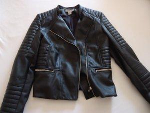 Schwarze Bikerjacke super stylish Gr.38 neuwertig