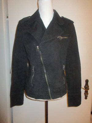 schwarze Bikerjacke von Esprit Gr. XL