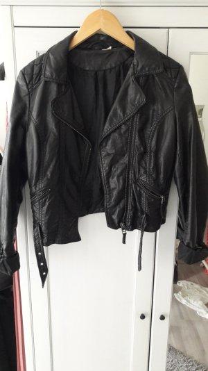 schwarze Bikerjacke von H&m