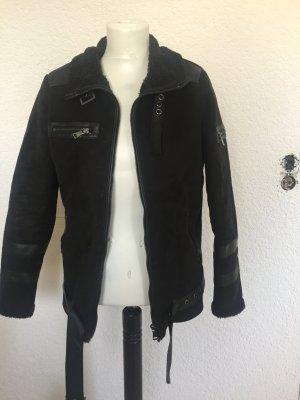 Schwarze Bikerjacke zu verkaufen in Größe M