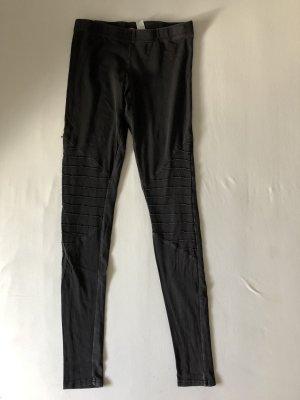 H&M Legging noir-gris anthracite