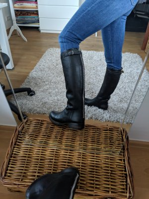 ASH Winter Boots black-silver-colored leather