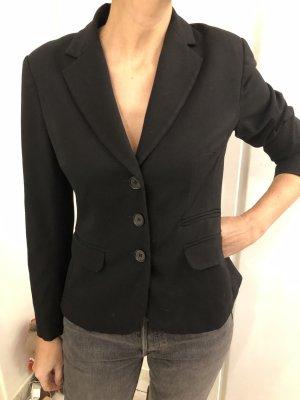 Schwarze Blazer kurz tailliert Seitentaschen