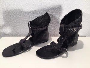 Blink Toe-Post sandals black leather