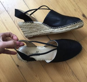 Espadrille Sandals black-cream
