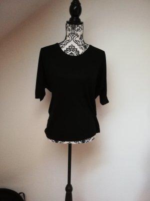 H&M Short Sleeved Blouse black