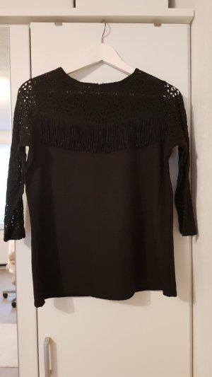 Pull & Bear Lace Blouse black