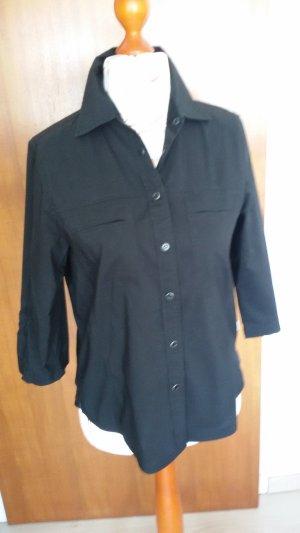 schwarze Bluse 3/4 Arm (M)