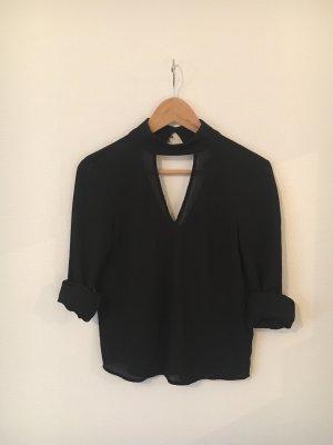 H&M Blusa de seda negro