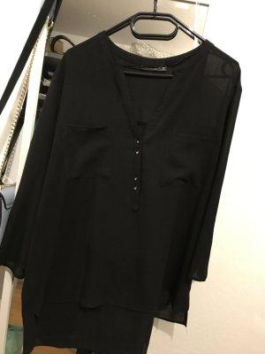 Schwarze Bluse aus Polyester