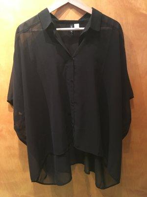 Schwarze Bluse - Durchsichtig