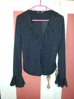 Schwarze Bluse Fledermaus Details