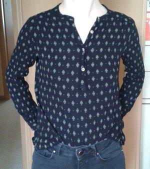 schwarze Bluse, gemustert von H&M