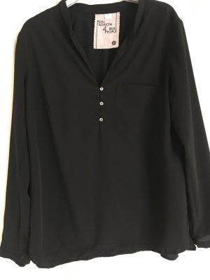 Schwarze Bluse Größe 42