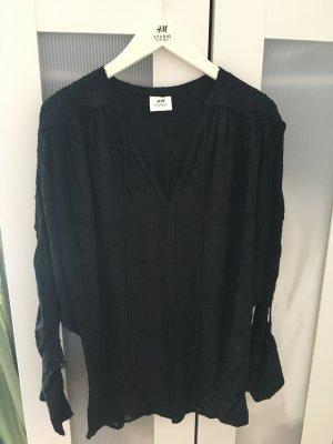 Schwarze Bluse H&M Studio A/W 16