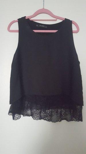 Schwarze Bluse in Größe M