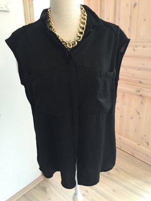 Schwarze Bluse kurzärmlig