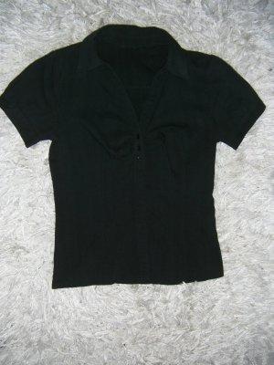 schwarze Bluse, kurzarm, H&M, Gr. 34