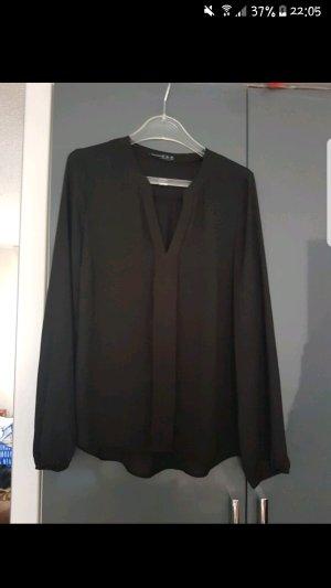 Schwarze Bluse Langärmlig