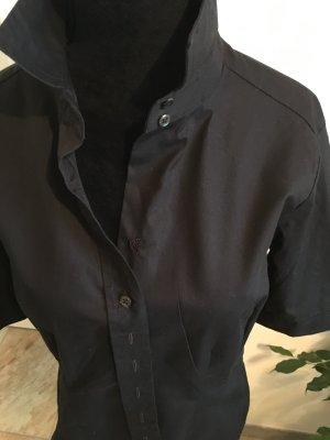 Schwarze Bluse mit Dreiviertel Ärmeln von Eterna Business Style