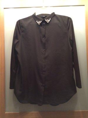 Schwarze Bluse mit Dreiviertelärmel