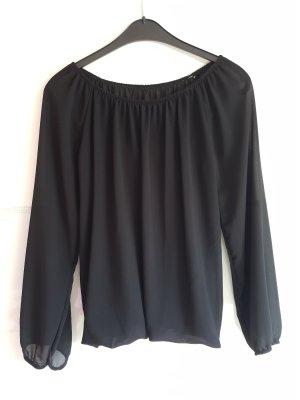 Schwarze Bluse mit eingenähtem Top