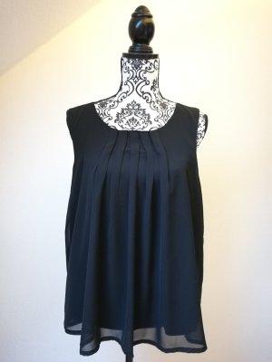 schwarze Bluse mit Faltmuster Vero Moda