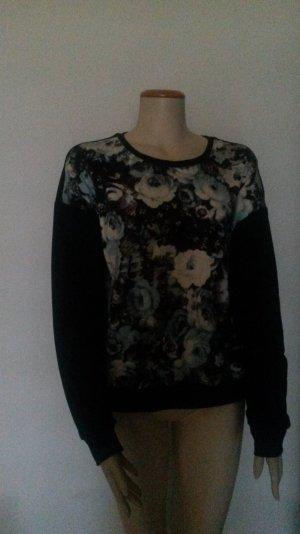 Schwarze Bluse mit Floraldruck