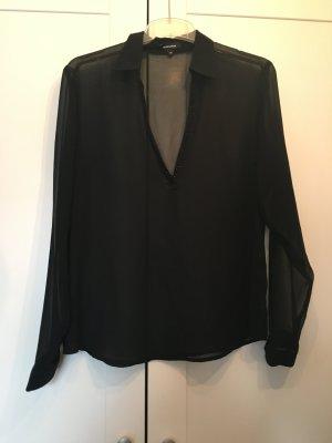 Schwarze Bluse mit Glitzersteinchen