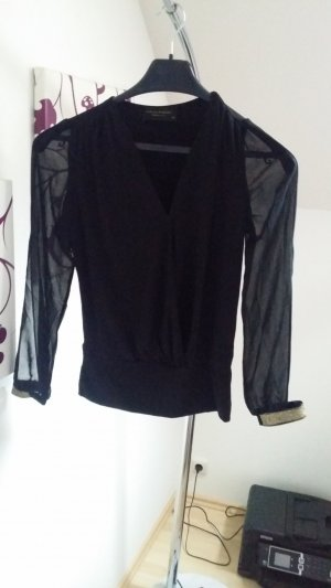 10 Days Blusa negro-color oro