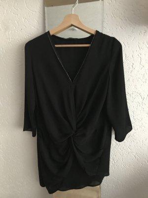 Schwarze Bluse mit Knoten von Zara