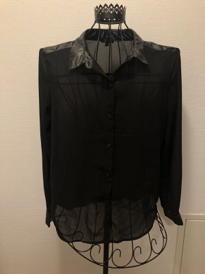 Ann Christine Transparent Blouse black