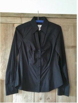 Schwarze Bluse mit Raffung von Esprit, XS