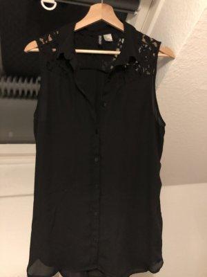 H&M Blouse en dentelle noir